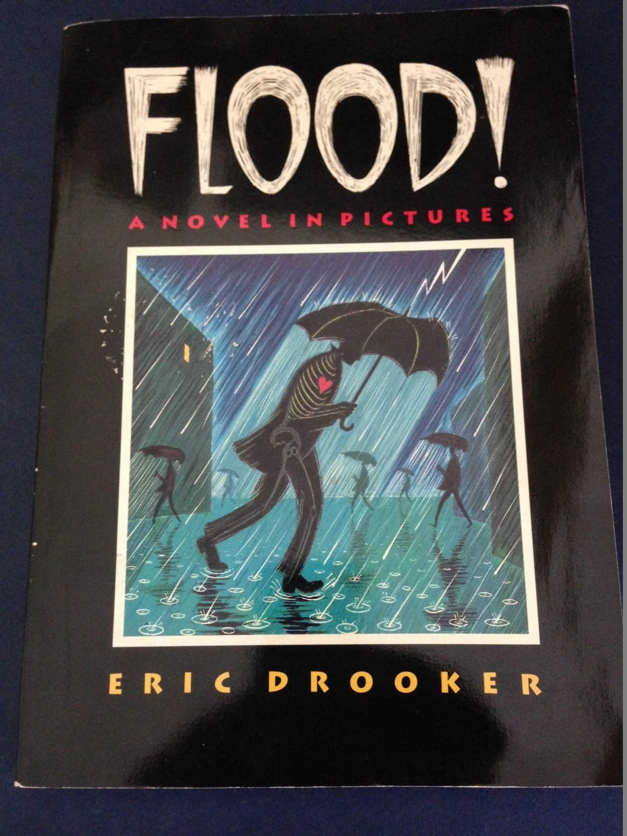 Art Of Eric Drooker Signed Eric Drooker Flood A Novel In Pictures Graphic Novel New York Signed Art Book
