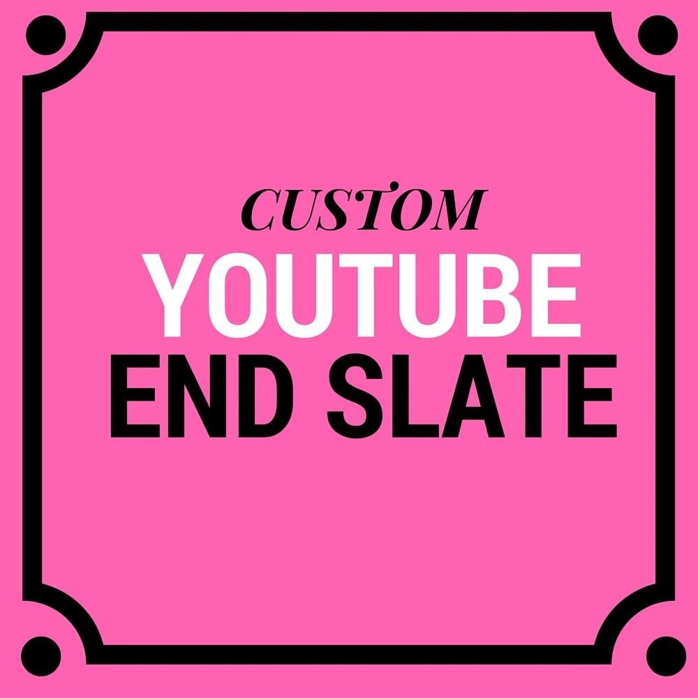 CUSTOM Youtube End Slate Channel Art Branding Etsy