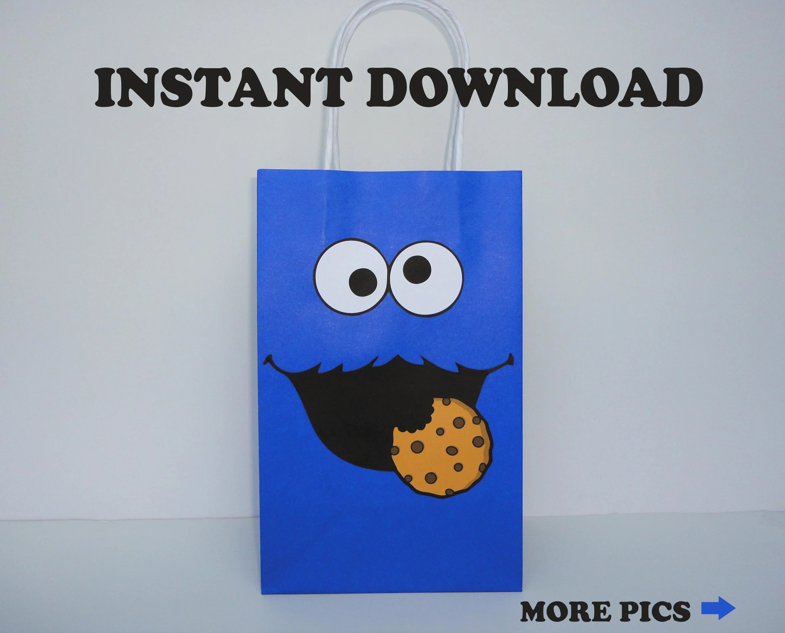 Cookie Monster Party Bags/ Cookie Monster Favor Bag/ Cookie Etsy