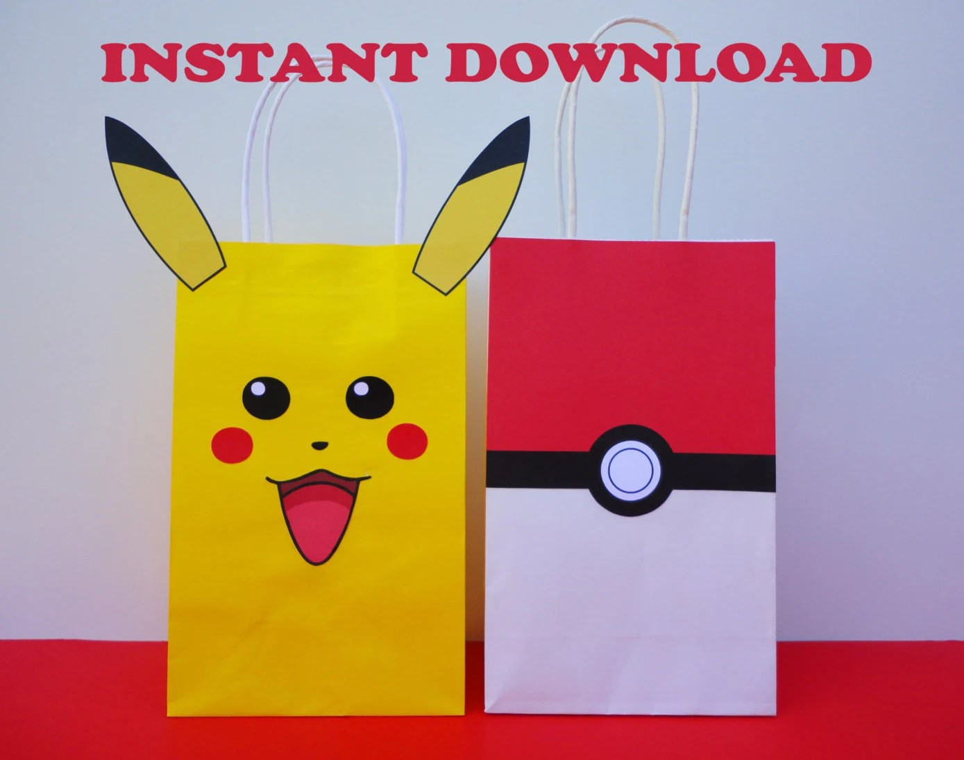 Pokemon Favor bags/ DIY Pokemon Party Bags/ Pokemon Birthday