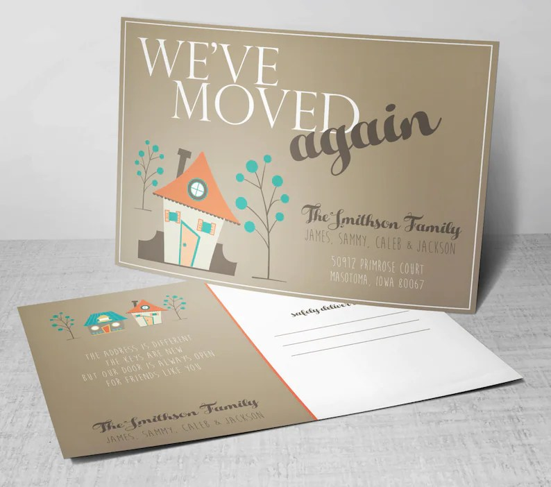 New Address Postcards We Have Moved Postcards We\u0027ve Etsy