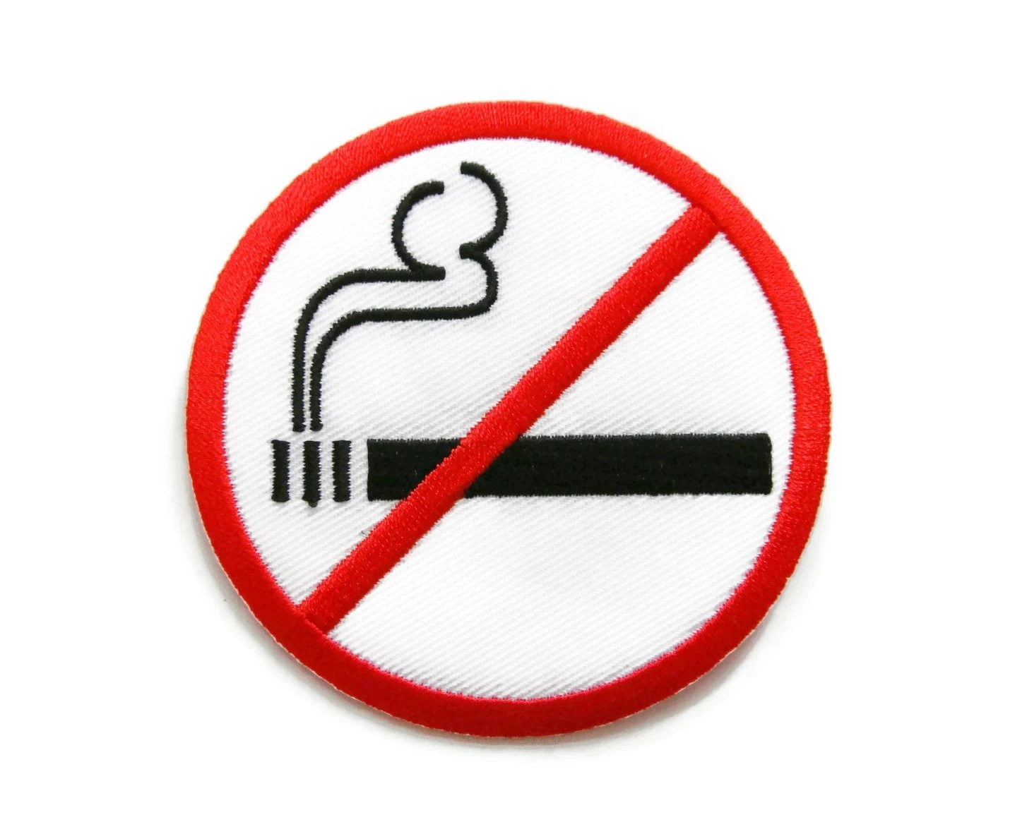 No Smoking Sign Embroidered Applique Iron on Patch 73 cm x Etsy