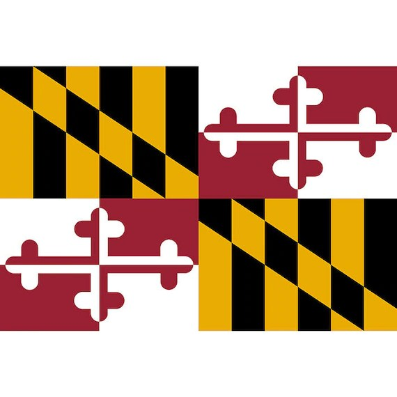 Maryland State Flag US US United America American Nation Etsy