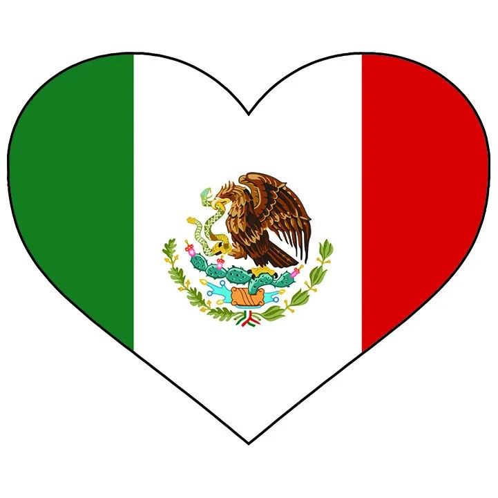 Mexico Heart Shaped Flag Mexican Spanish North America Country Etsy