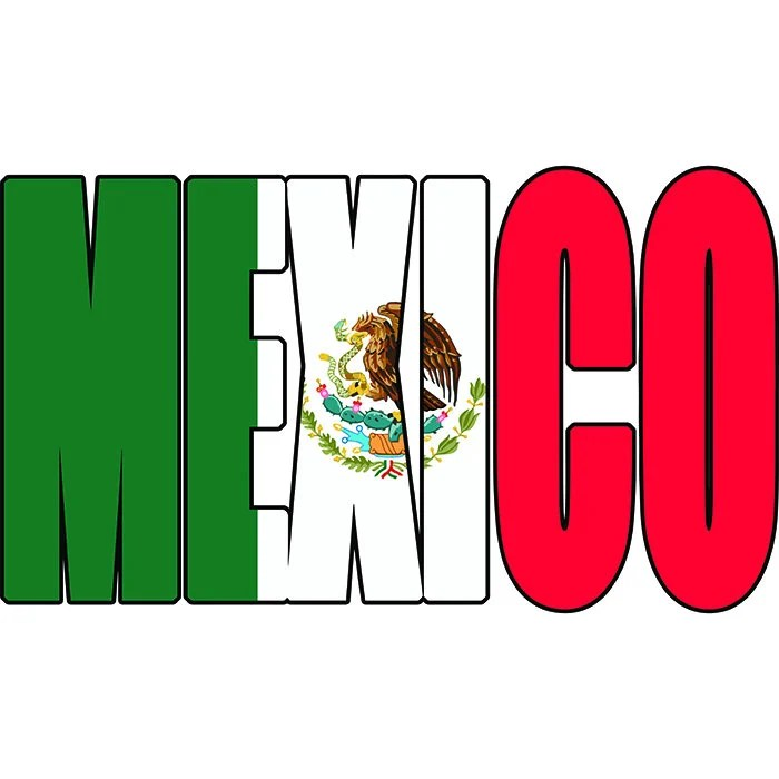 Mexico Text Flag Mexican Spanish North America Country World Etsy