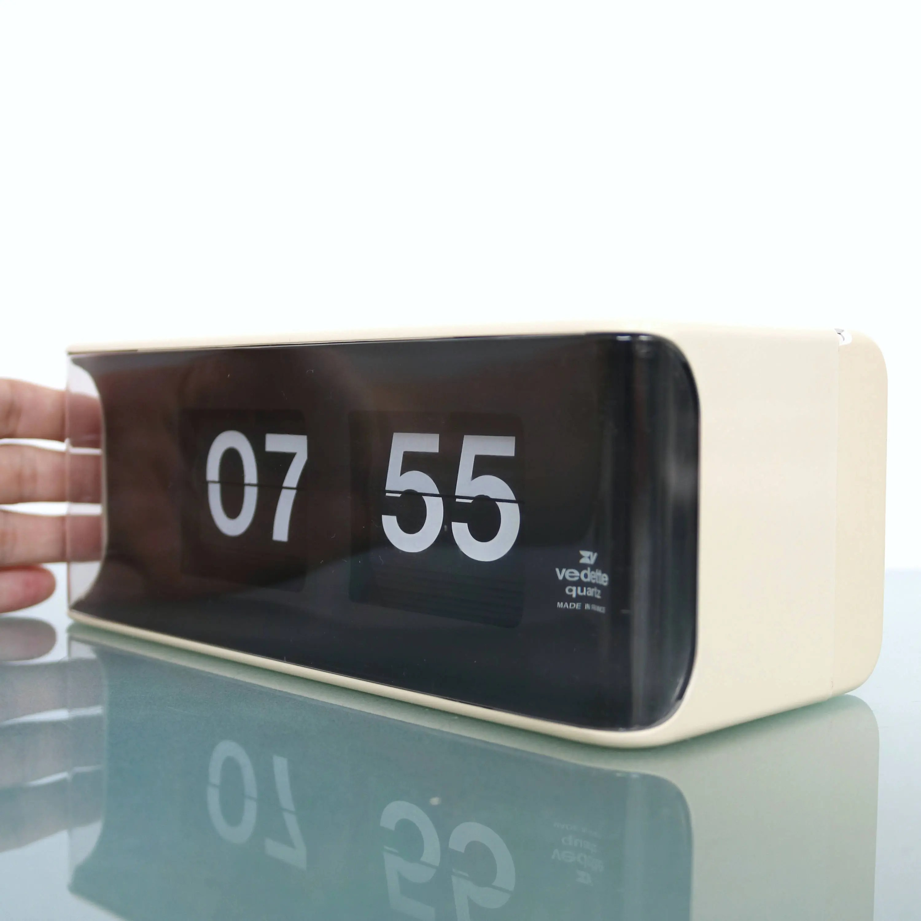 Flip Clock Mantel And Or Wall Flip Clock Flipclock Vedette Mid Century Large France Vintage Offered With A One Years Guarantee