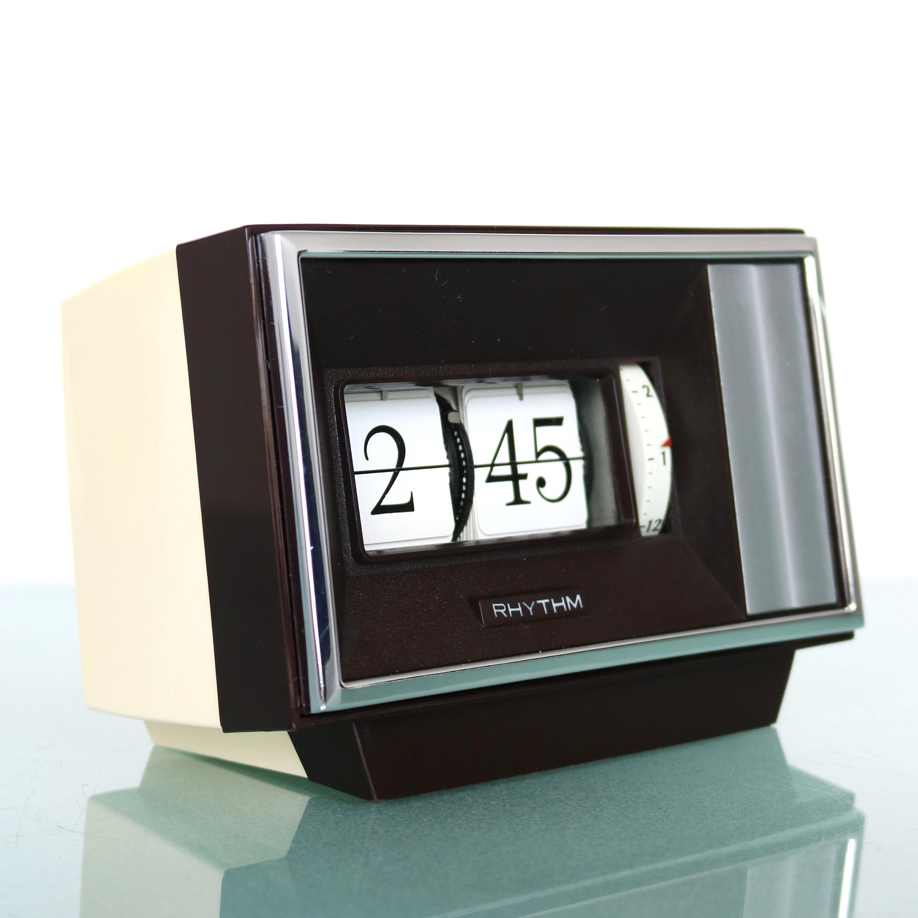 Retro Flip Alarm Clock Rhythm No 16506 Flip Clock Wind Up Mantel Alarm Space Age Retro Japan Vintage Winding Alarm Clock Offered With One Years Guarantee