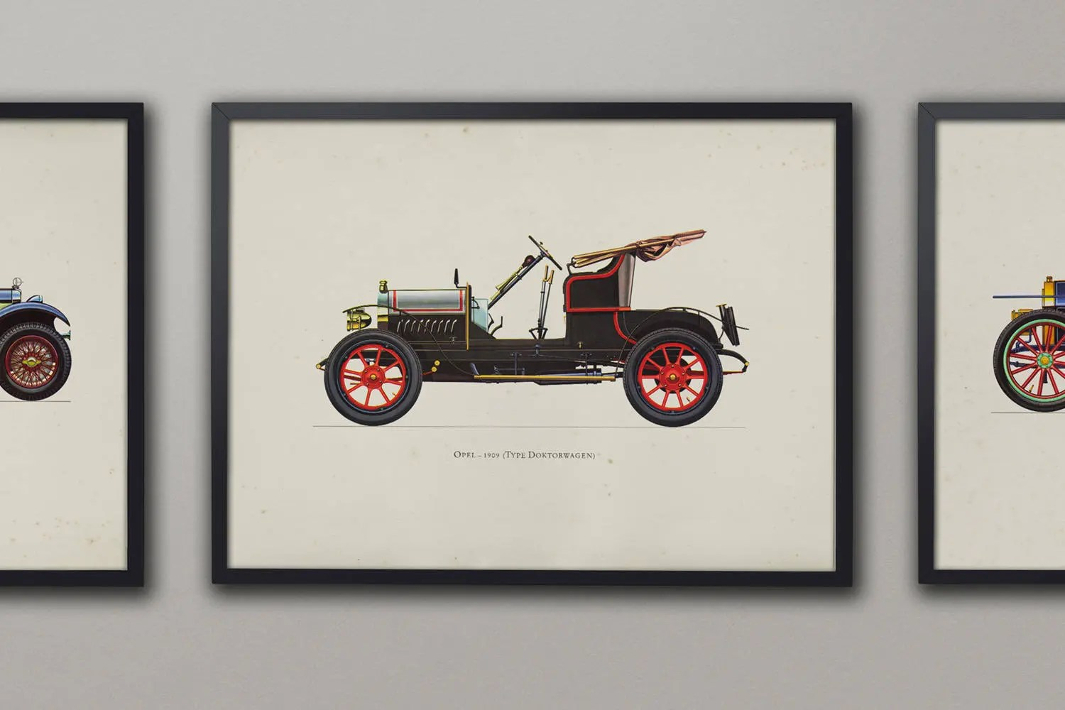 Garage Opel Luxembourg Vintage Opel Antique Car Art Vintage Car Prints Old Dealership Brochures Classic Car Print Gifts For Dads Classic Cars Art Circa 1909