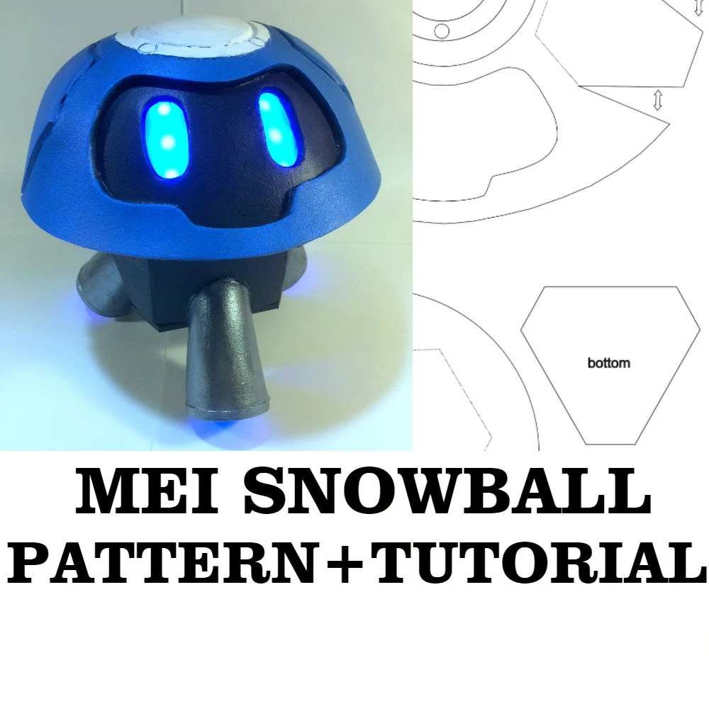 MEI Snowball Robot Overwatch cosplay Pattern Printable Etsy