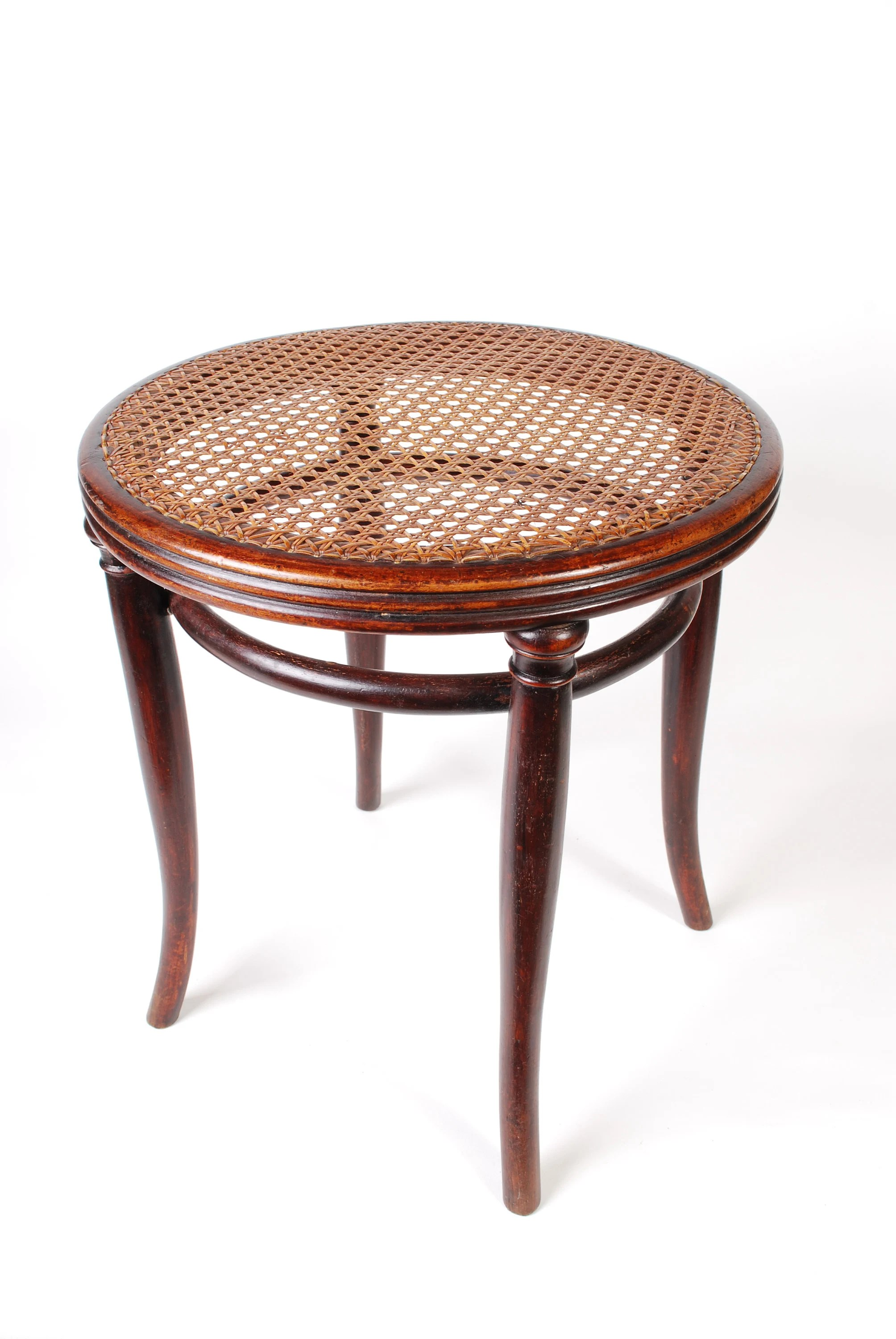 Hocker Vintage Thonet Stool Antique Bentwood Cane Hocker Chair Jugendtstil Secessionist Elegant Vintage Stool From The 1910th More Than 100 Years Old
