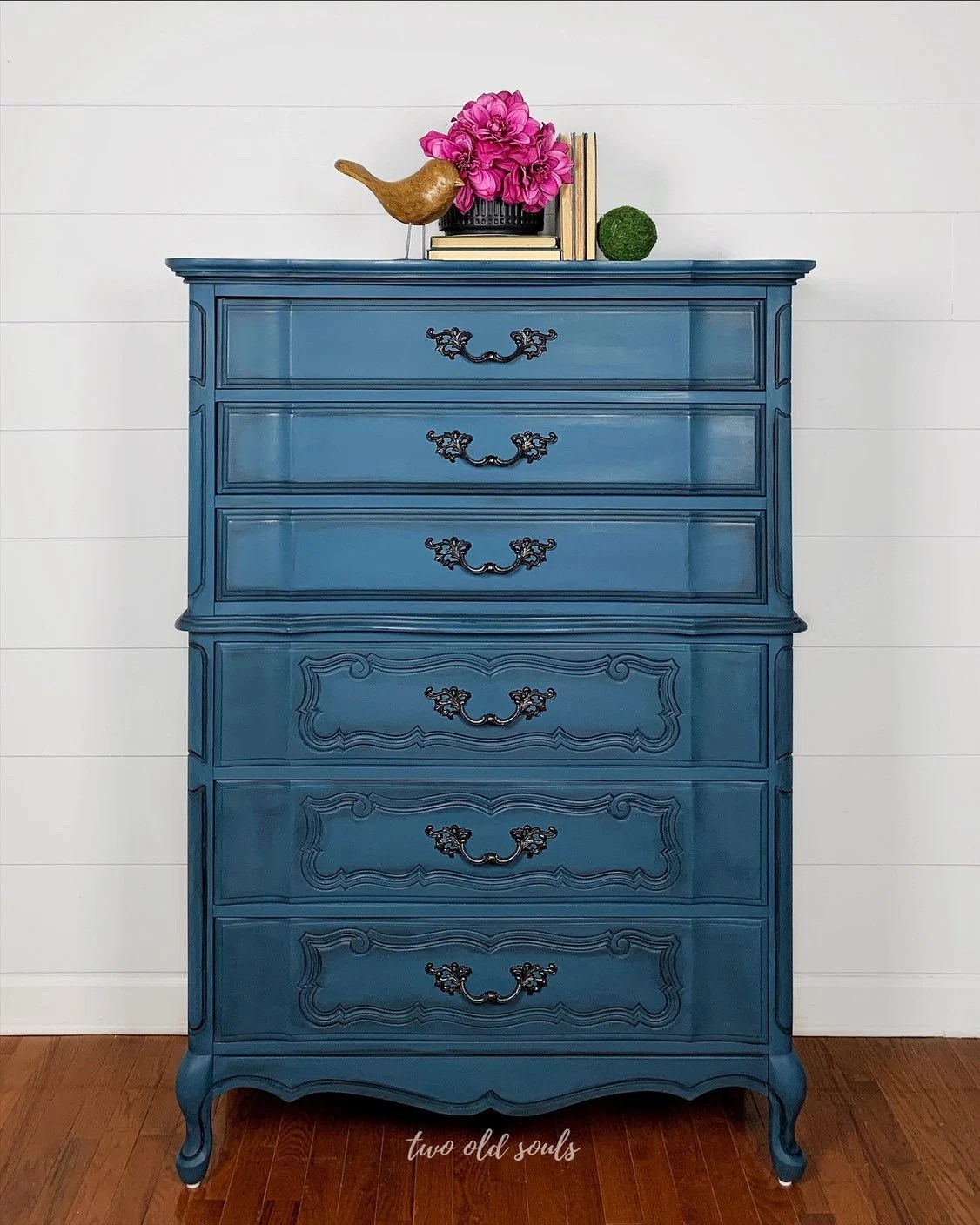 6 Drawer Chest Of Drawers Blue Vintage French Provincial Tallboy 6 Drawer Chest Of Drawers Bedroom Dresser Bassett Master Suite Furniture