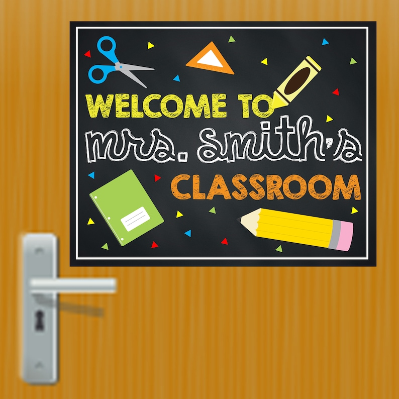 Classroom Door Signs Teachers Signs Classroom Signs Etsy