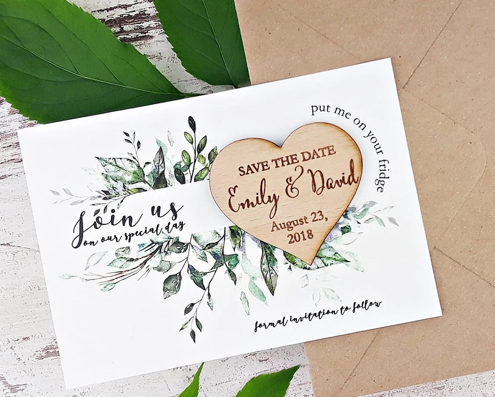 Save The Date Magnet Wedding Trend 2019 For Audrey