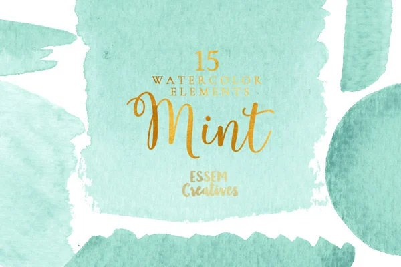 Watercolor Wallpaper Backgrounds Quote Mint Green Watercolor Clipart Splash Watercolor Graphics