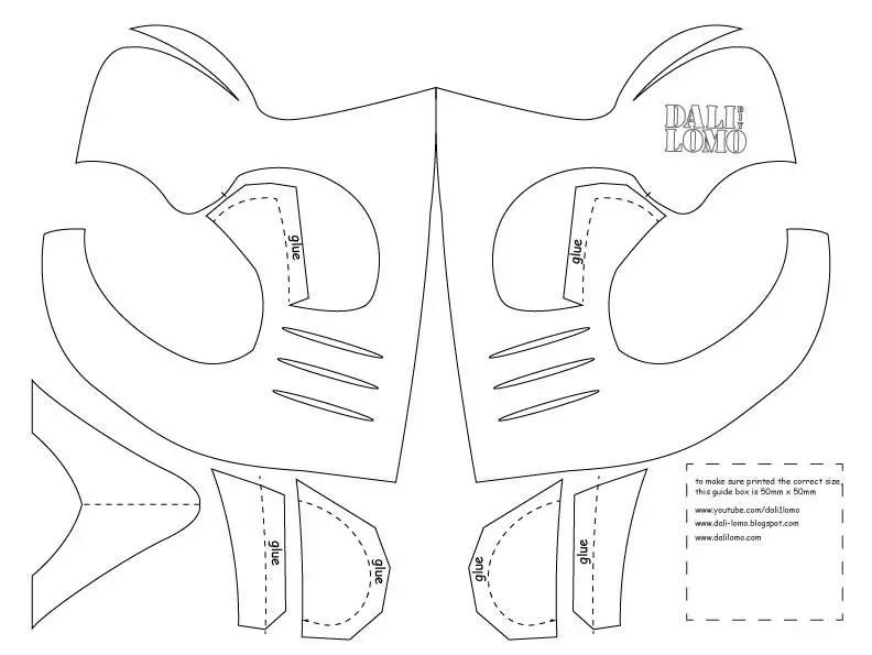 Mortal Kombat Scorpion Mask PDF A4  Letter Template Etsy