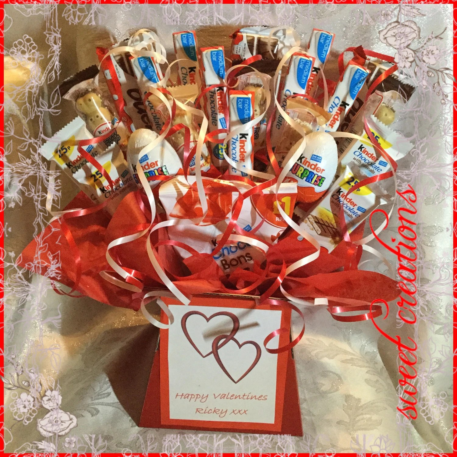 Kinderessen Party Kinder Chocolate Bouquet Sweet Creations Christmas Sweet Hamper Sweet Creations Birthday Gift Party Tablecentre Kinder Eggs Children S