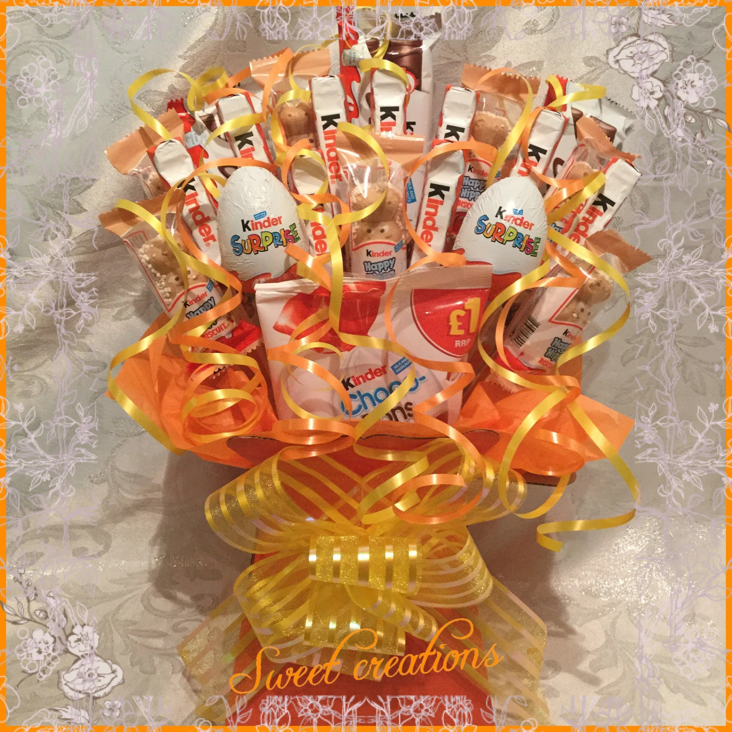 Kinderessen Party Kinder Chocolate Large Bouquet Sweet Creations Sweet Hamper Gift Party Tablecentre Christmas