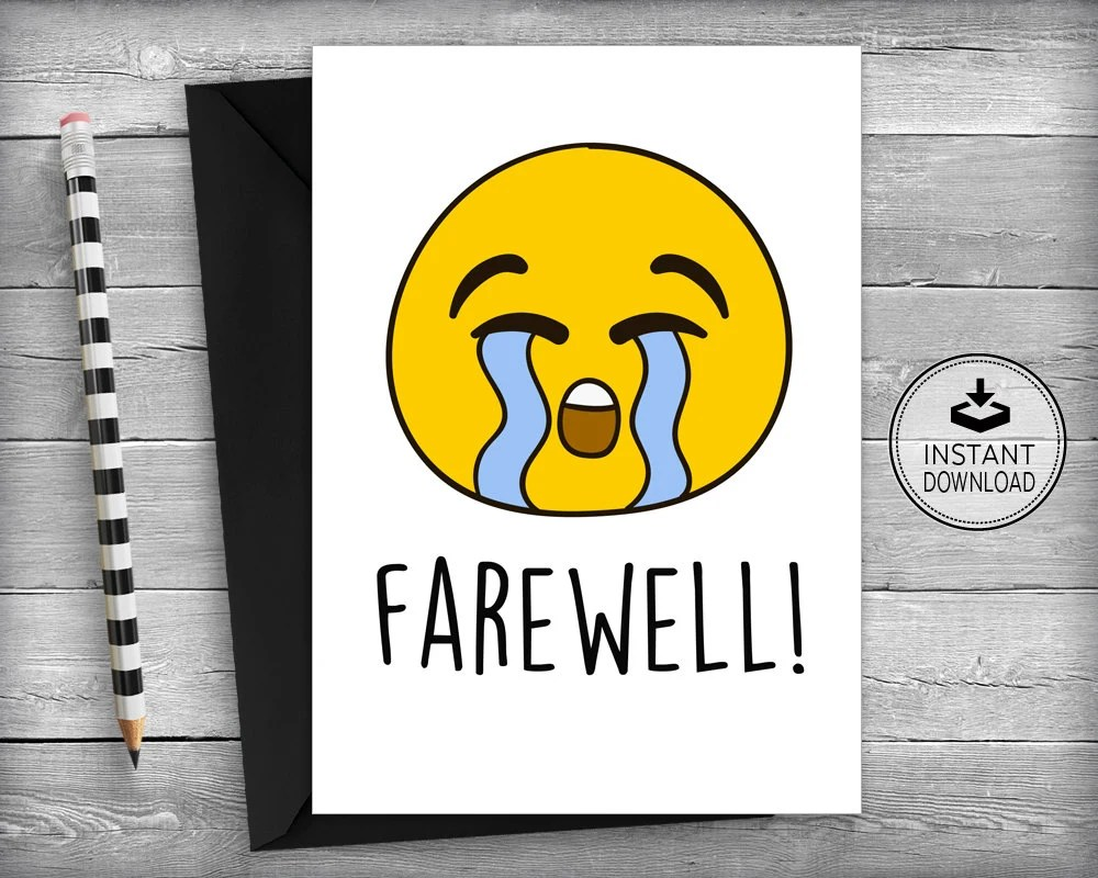 Farewell Cards New Job Cards Goodbye Cards Going Away Etsy - new job cards