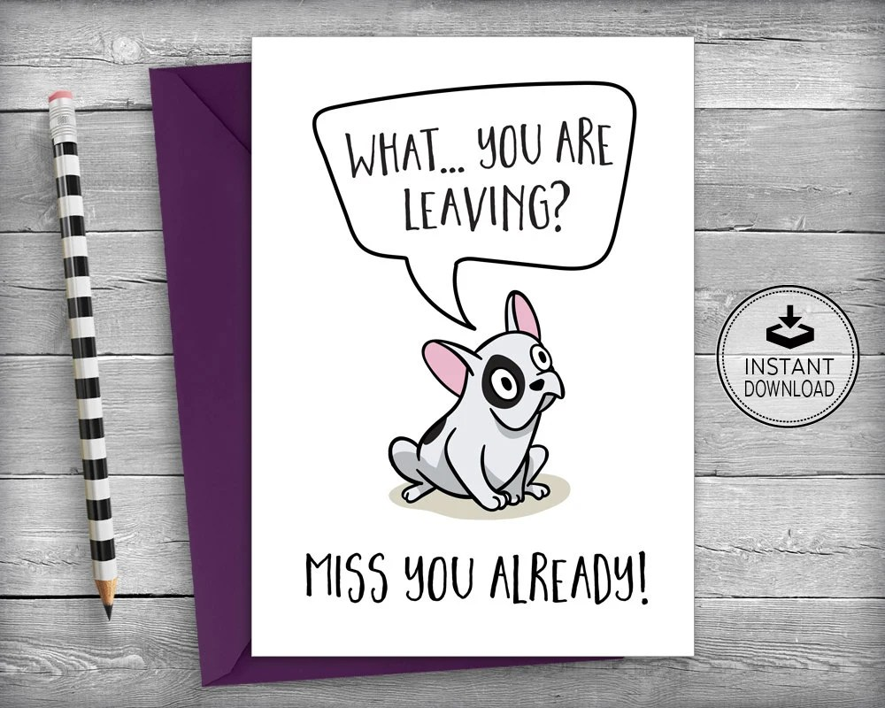Farewell Card New Job Cards Goodbye Cards Going Away Etsy - new job cards