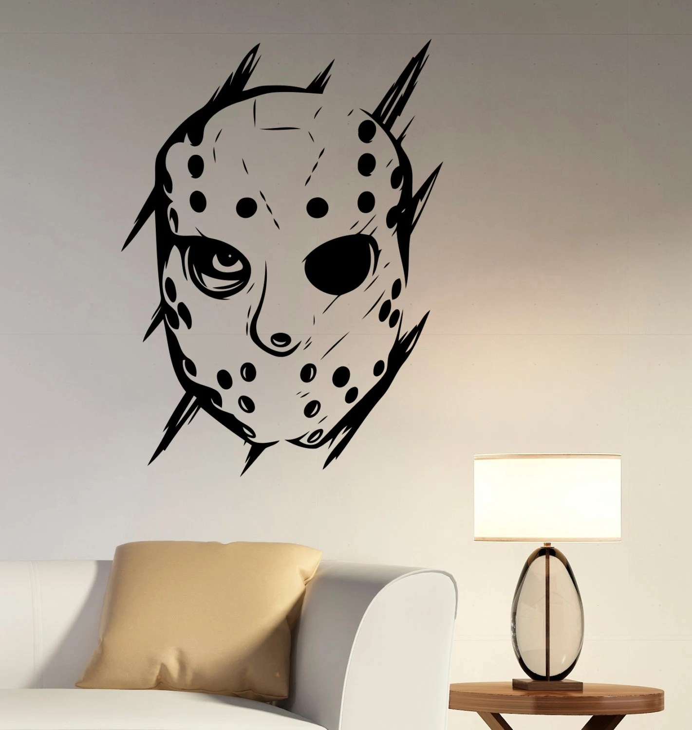 Horror Woonkamer Jason Voorhees Muur Sticker Vinyl Sticker Friday The 13th Film Art Decoratie Voor Home Housewares Woonkamer Slaapkamer Horror Decor Jvh1