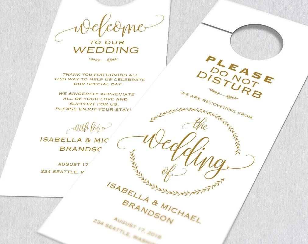 Gold Wedding Door Hanger Door Hanger Printable Door Hanger Etsy