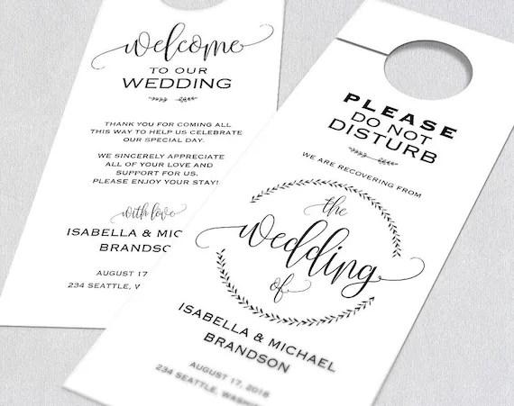 Wedding Door Hanger Door Hanger Printable Door Hanger Etsy