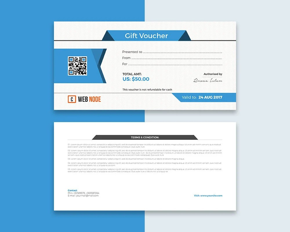 Gift Coupon Certificate Editable Stationary Design Template Etsy