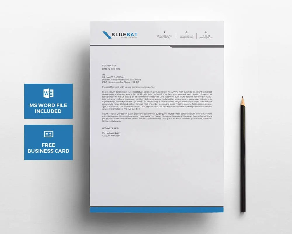 Letterhead Pad with Free Business Card Design template Etsy