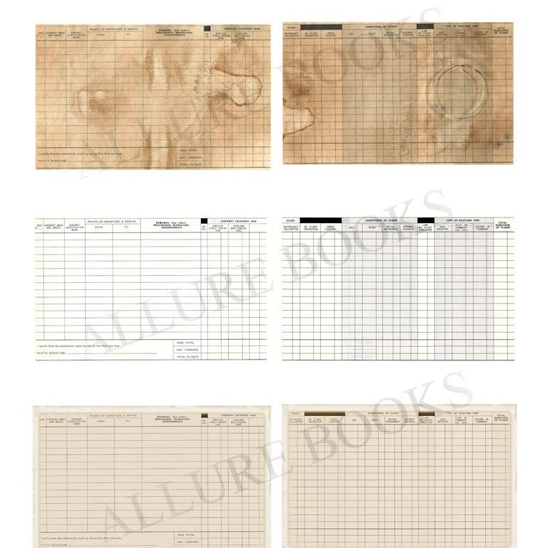 Vintage Pilots Log Printable Antique Journal Page Vintage Etsy