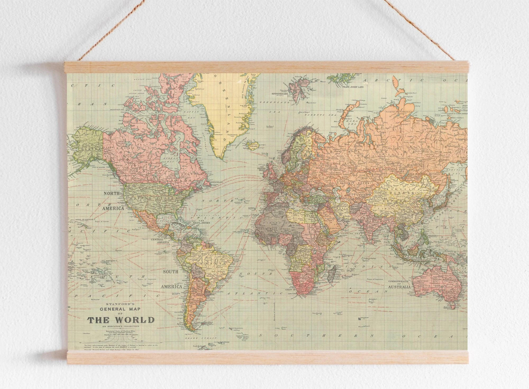 World Map DIGITAL Print for office or kids nursery wall art Etsy