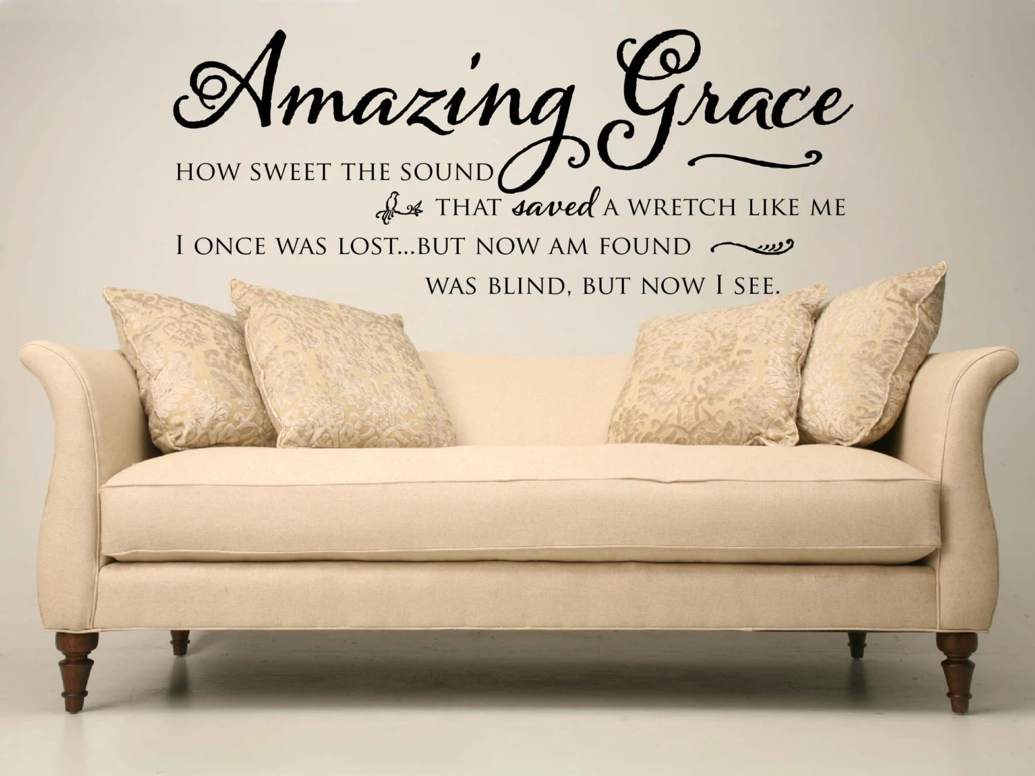 Sofa Easy Lyrics Amazing Grace Hymn Lyrics Quote Vinyl Wall Decal