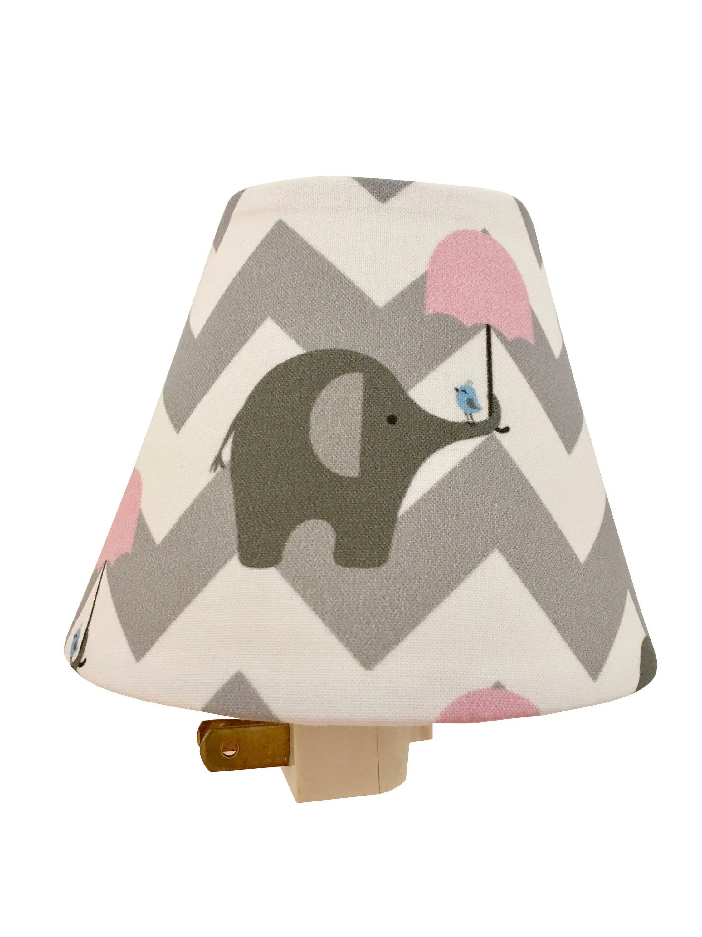 Elephant Night Light Pink Grey Chevron Elephant Night Light Pink White Night Etsy