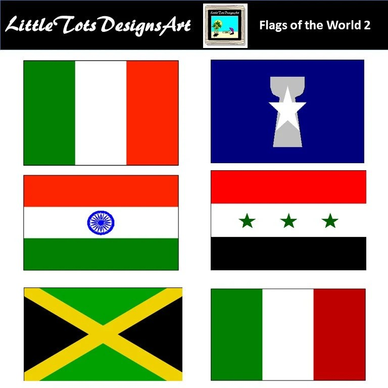 World Flag Clipart Flag Clipart Printable Flags 135 PNG Etsy