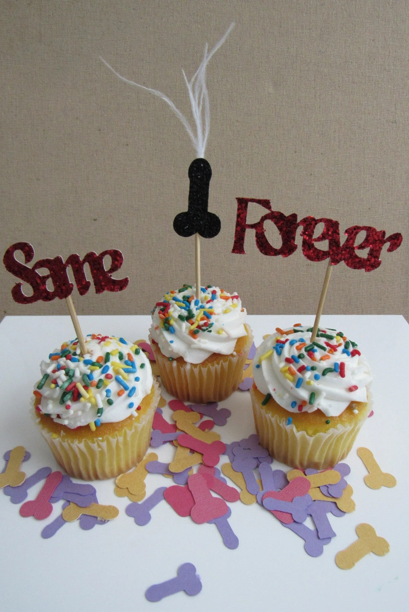Décoration De Cupcake Same Penis Forever Party Decoration Cupcake Topper Set Of 12 Bachelorette Parties Showers