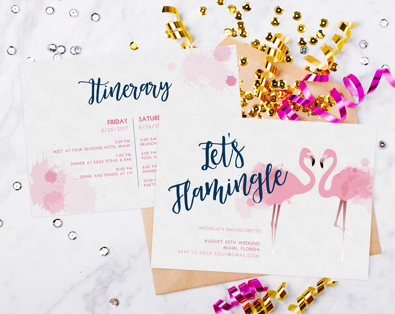 INSTANT DOWNLOAD Bachelorette Invitation Template Tropical Etsy