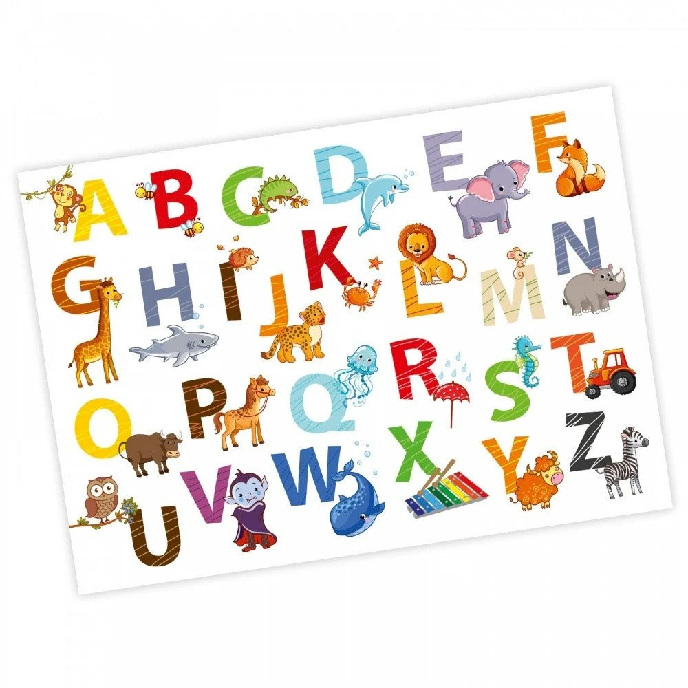 A A1 Din Children Animal Abc Poster Din A1 841 X 594 Mm