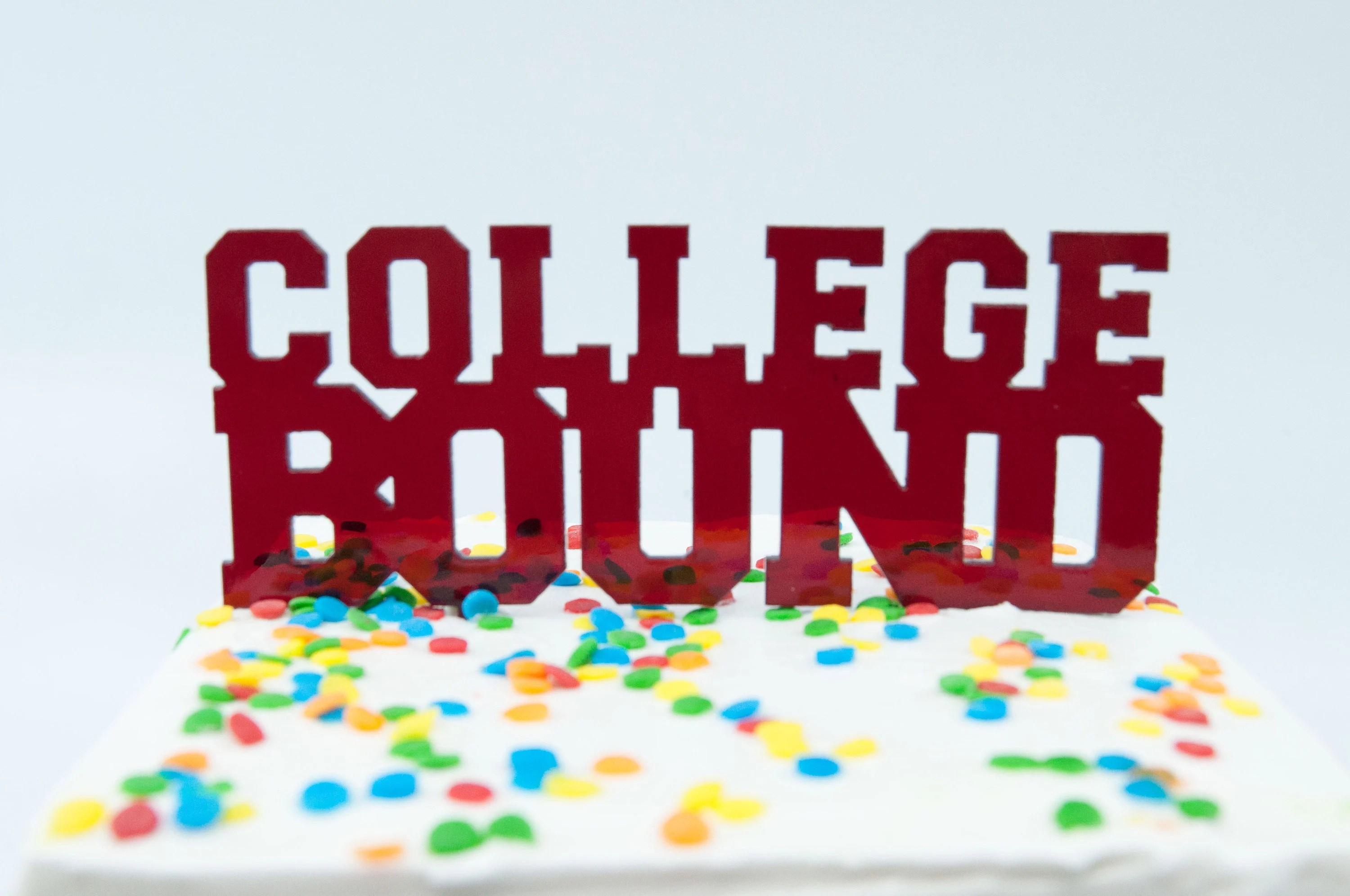College Bound Cake Topper Congrats High School Graduate Etsy
