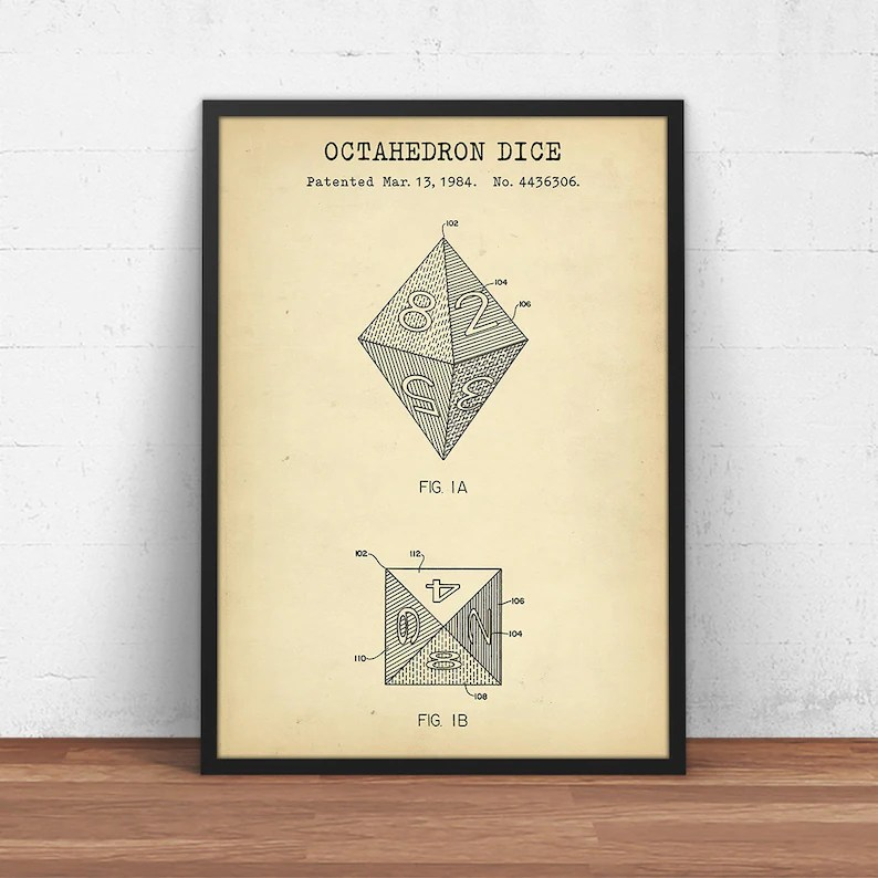 D8 Dice Instant Download 8 sided Octahedron Die DnD Dice Etsy