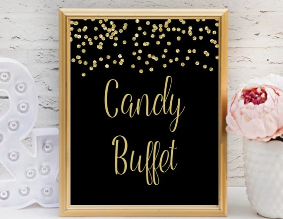 Candy Buffet Sign / Printable Candy Buffet Sign / Wedding Etsy