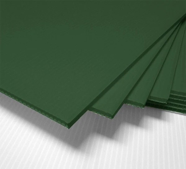 8 GREEN corrugated blank sign sheet 4mm x 24 x 12 Etsy