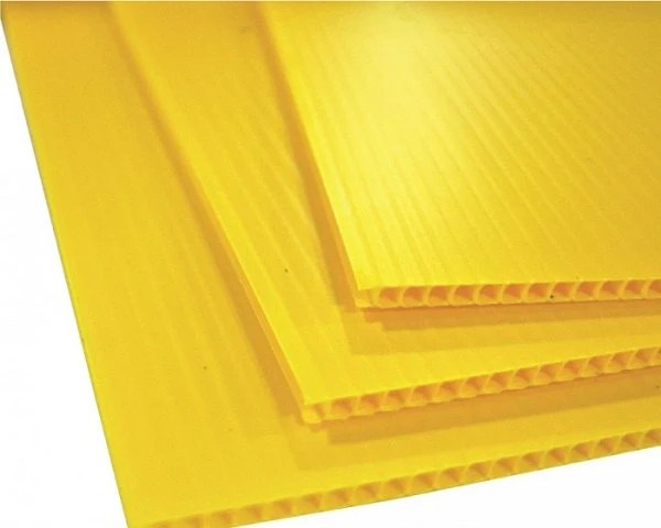10 YELLOW corrugated blank sign sheet 4mm x 24 x Etsy