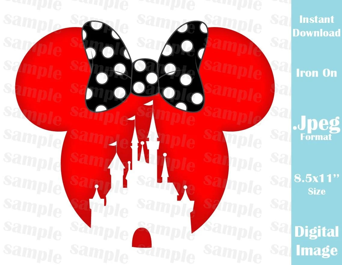 INSTANT DOWNLOAD DIY Disney Castle Inspired Minnie Ears Etsy