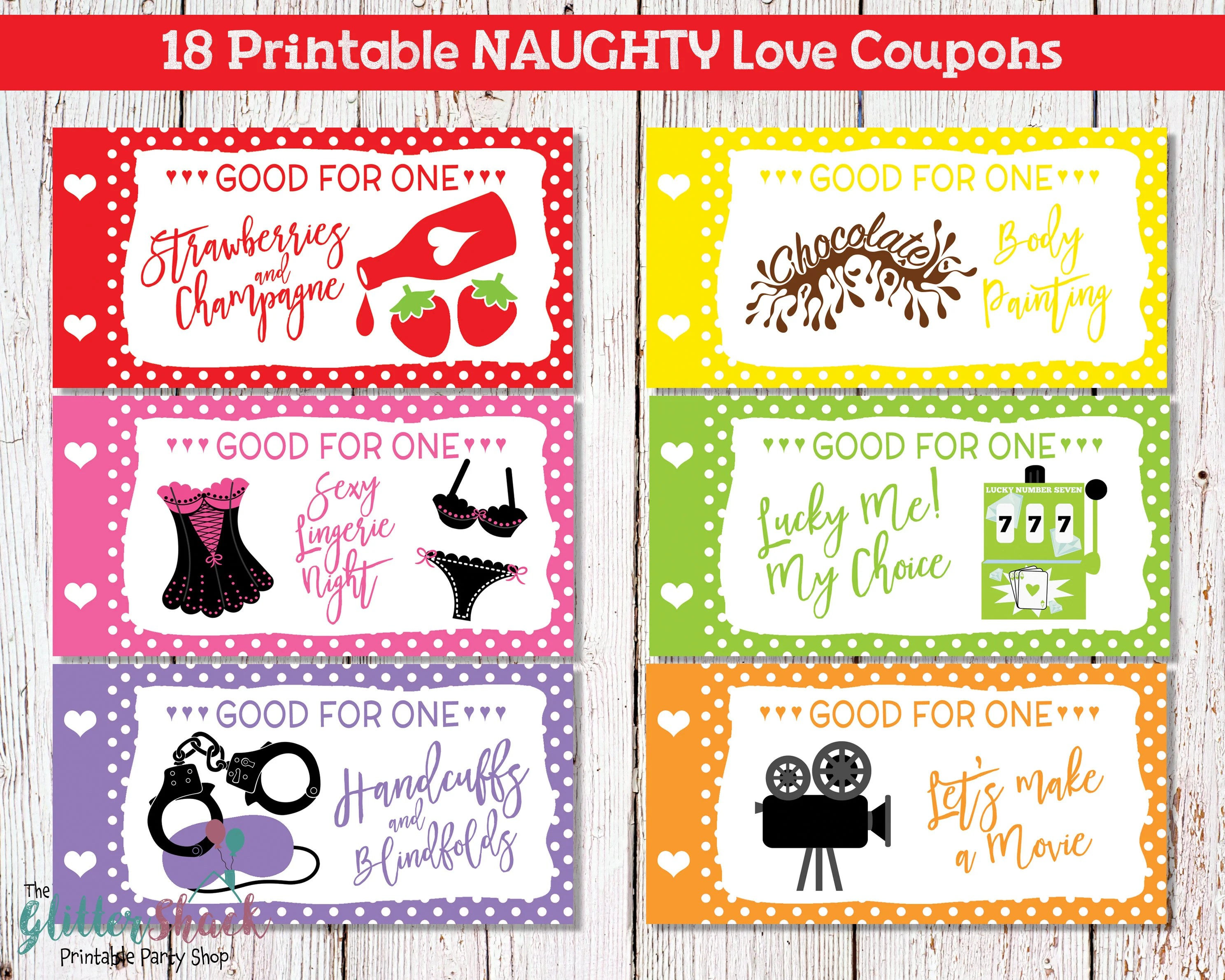 Printable Naughty Love Coupons For Men Husband Boyfriend Sexy Etsy