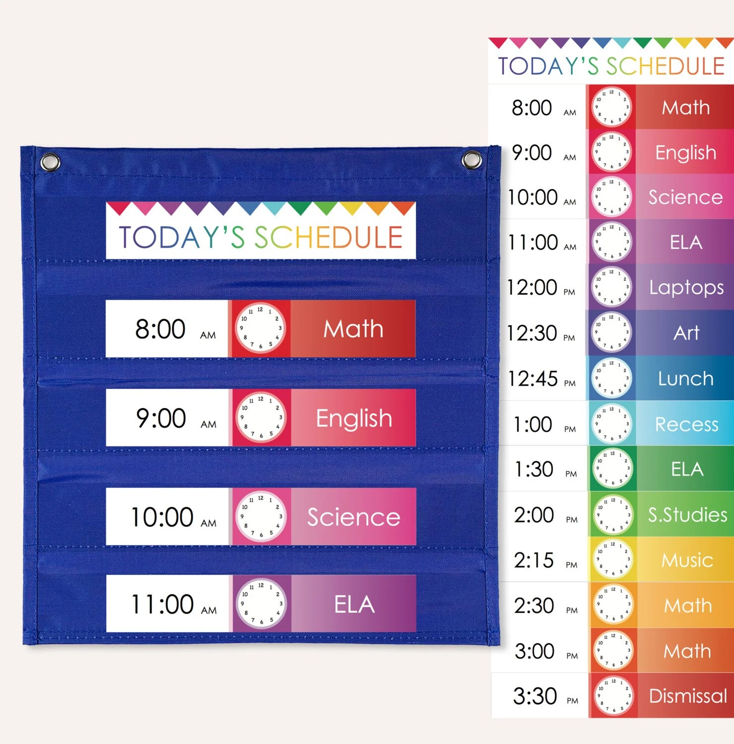 Daily Schedule Cards for Pocket Charts PRINTABLE Etsy