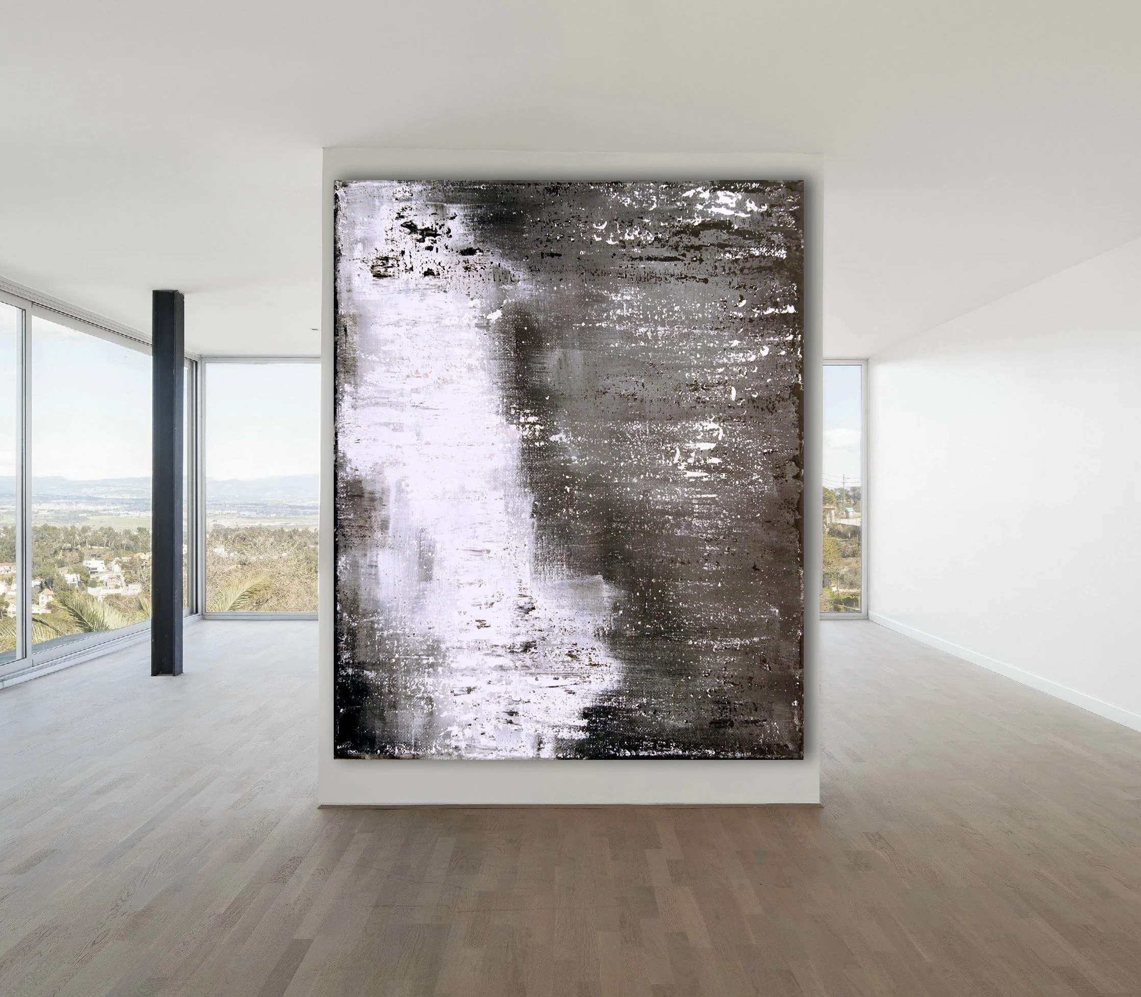 Art Wall Original Abstract Painting Xlarge Canvas Art Industrial Art Wall