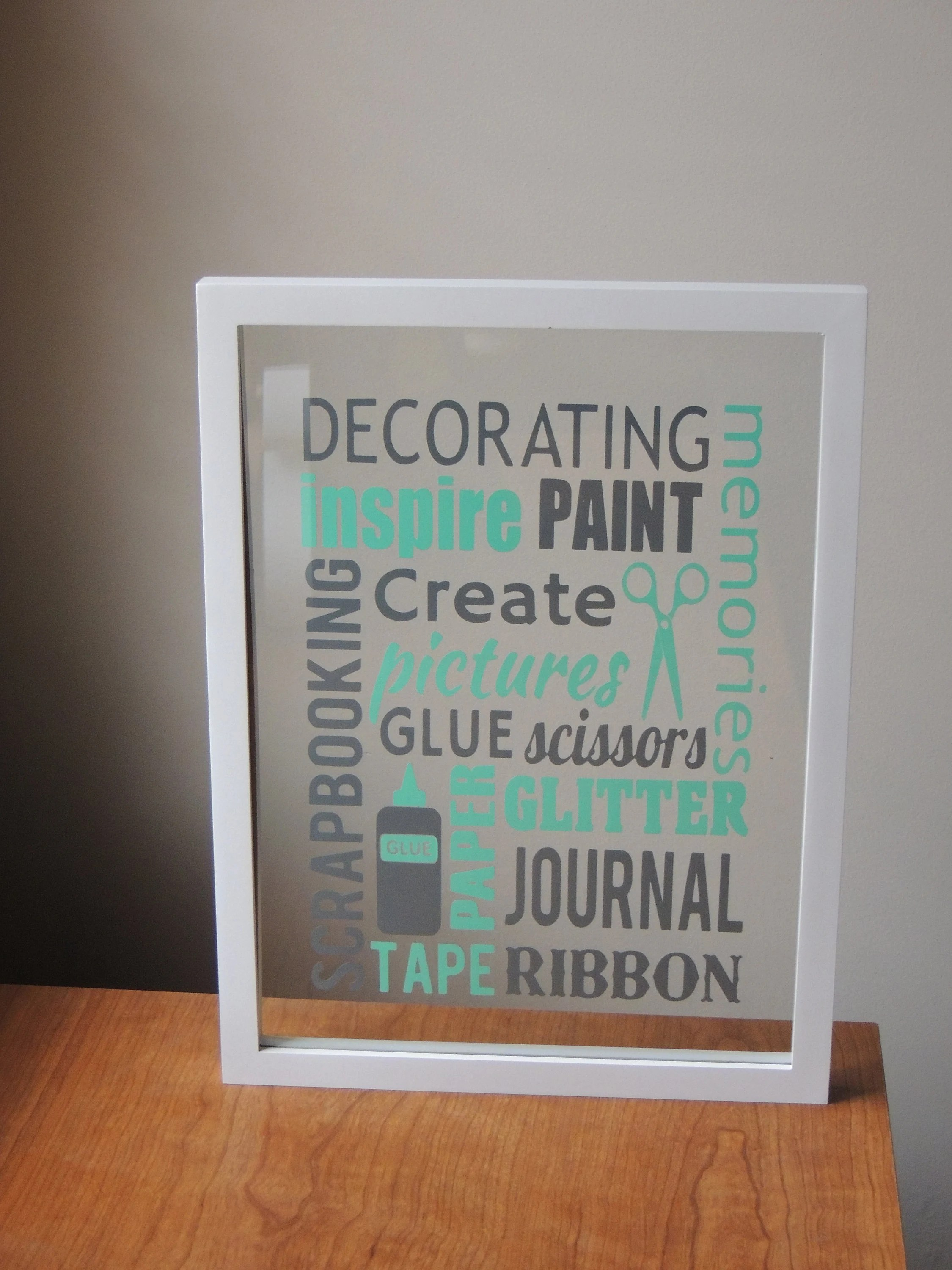 Art Decorating And Crafting Craft Room Framed Art Craft Room Decor Scrapbooking Decor Art Room Decor Floating Frame Crafting Framed Sign Arts And Crafts Decor