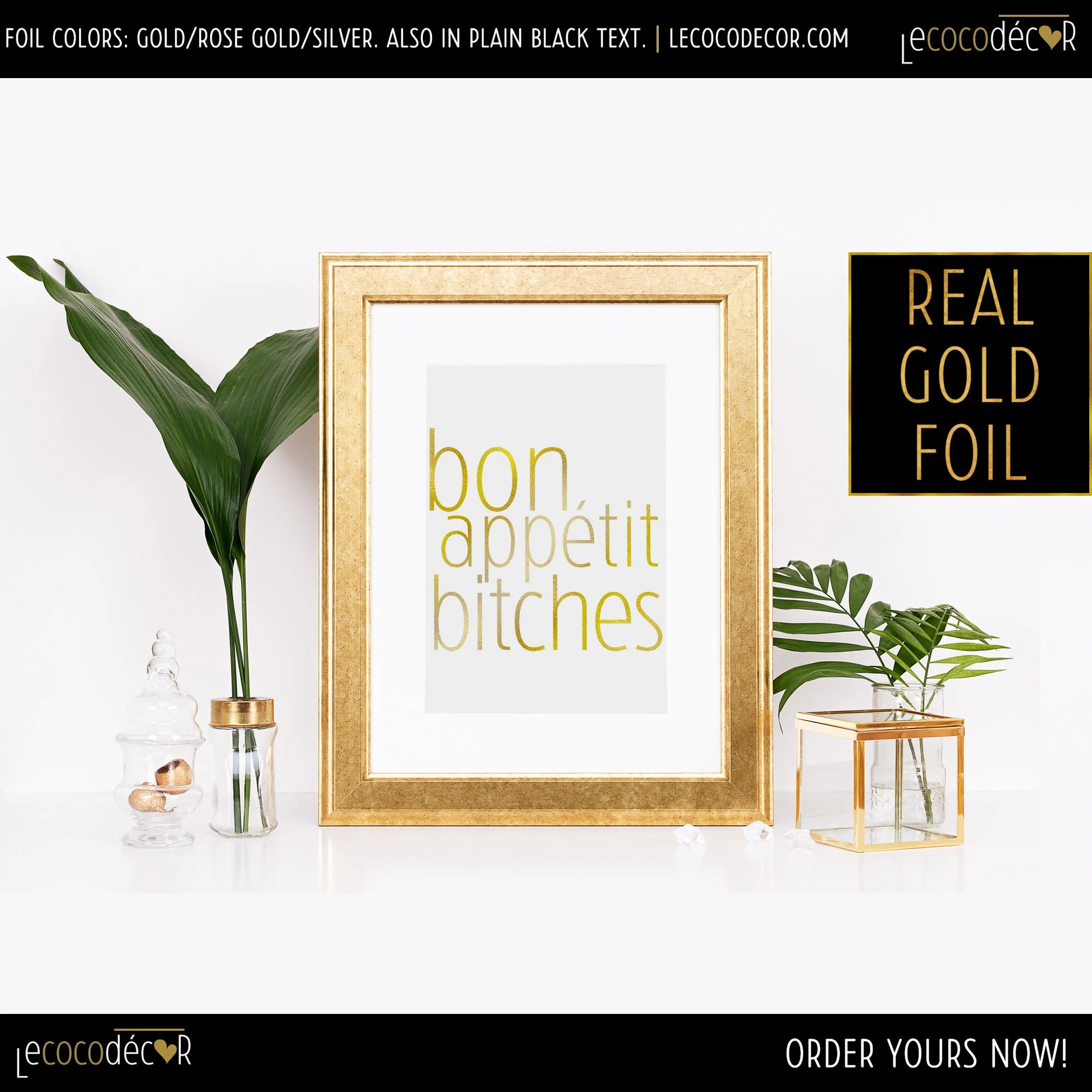 Countertop Signs Kitchen Bar Prints Bon Appétit Bitches Funny Kitchen Signs Kitchen Art Signs Kitchen Countertop Kitchen Bar Sign Kitchen Decor