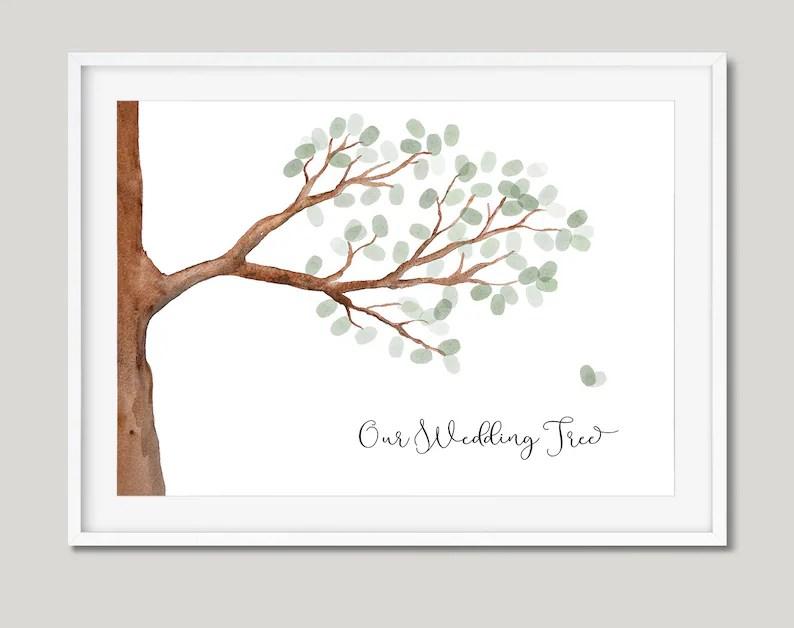 PRINTABLE fingerprint tree branch art Ready to print A2 Etsy