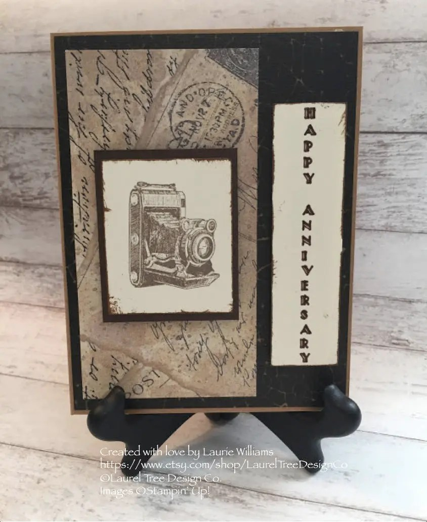 Stampin Up Karten Für Männer Anniversary Card Free Shipping Handmade Card Vintage Brown Beige Retro Camera Post Card Paper Stampin Up Traveler