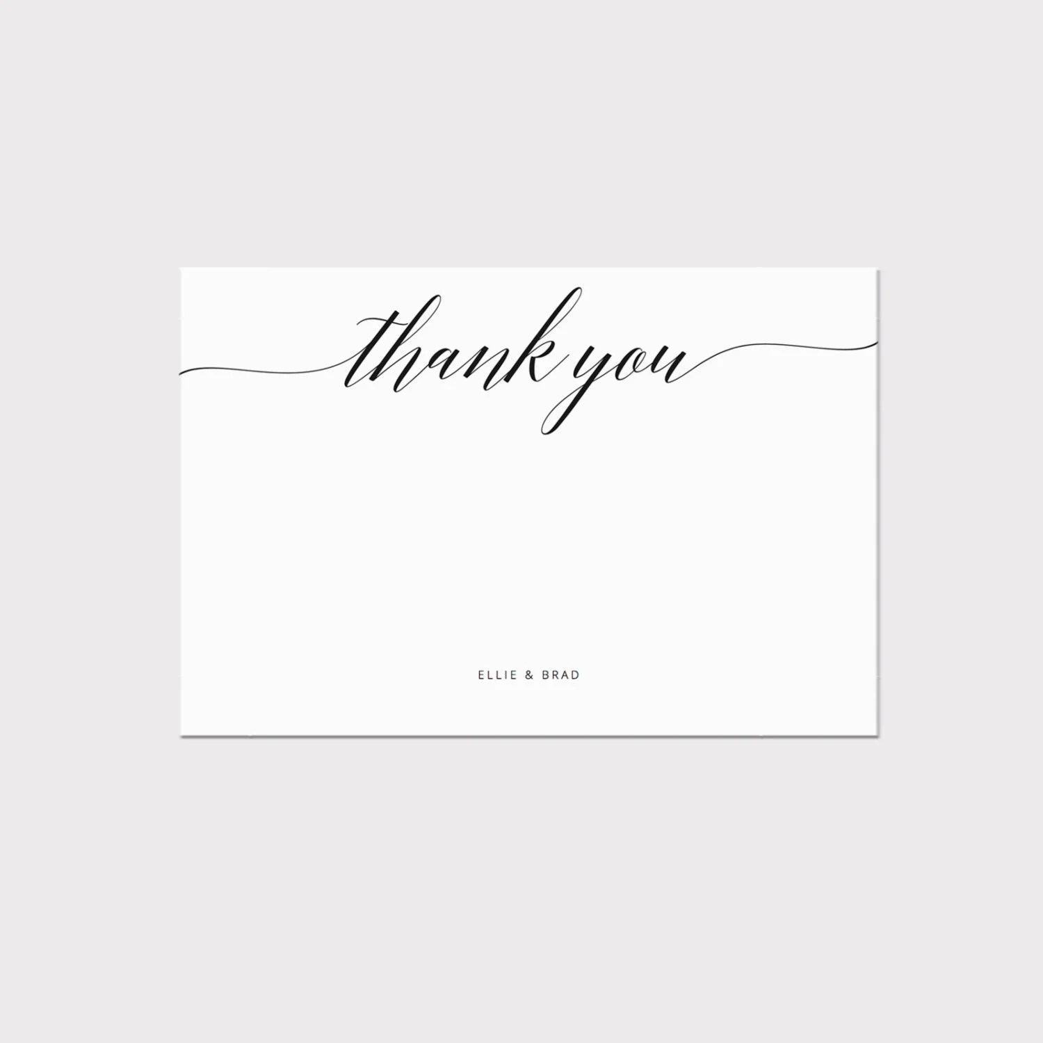 Printable Thank You Card Template Whimsical Calligraphy Thank Etsy